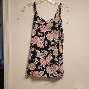 Torrid black floral top size 00